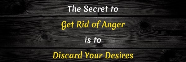 Get rid of anger
